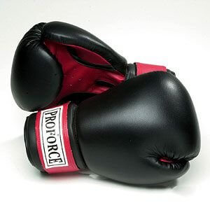ProForce Leatherette Boxing Gloves w/red pam