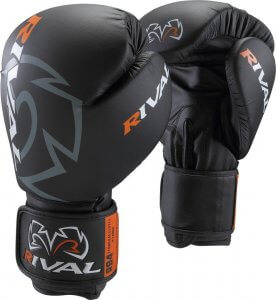 Rival Aero Boxing Gloves, Black, 12-Ounce